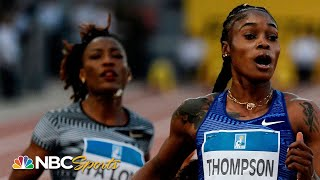 elaine-thompson-eclipses-dina-asher-smith-at-the-wire-in-100m-dash-nbc-sports