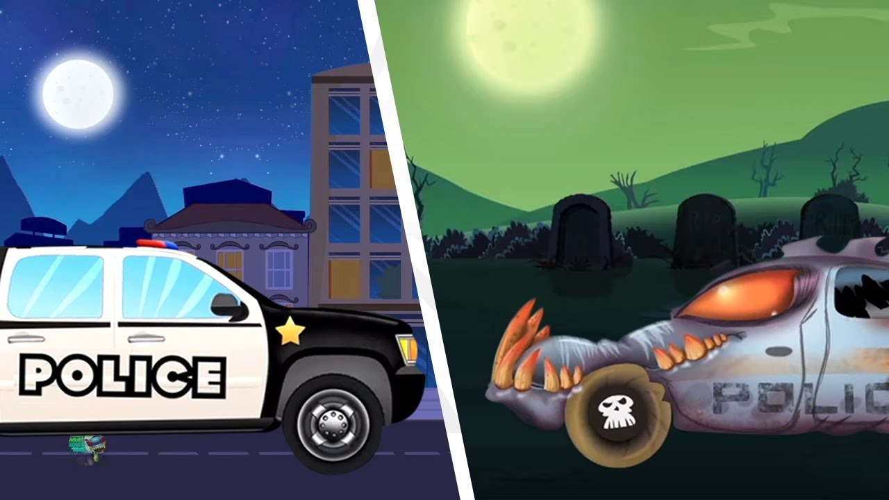 New powers of the Haunted House And Monster Truck | Vehicles for children | Kids Cartoons