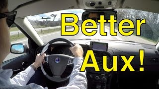 Diy Improving Aux Input For Modern Saabs Simon S Mod Trionic Seven Youtube