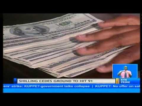 Kenya's Shilling Weakened To Hit 91 Shillings Against The Dollar