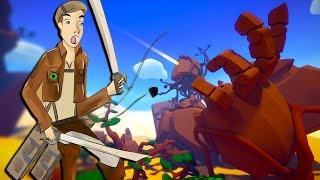 ATTACK ON TITAN SIMULATOR...... KINDA! | Windlands (Oculus Rift DK2)