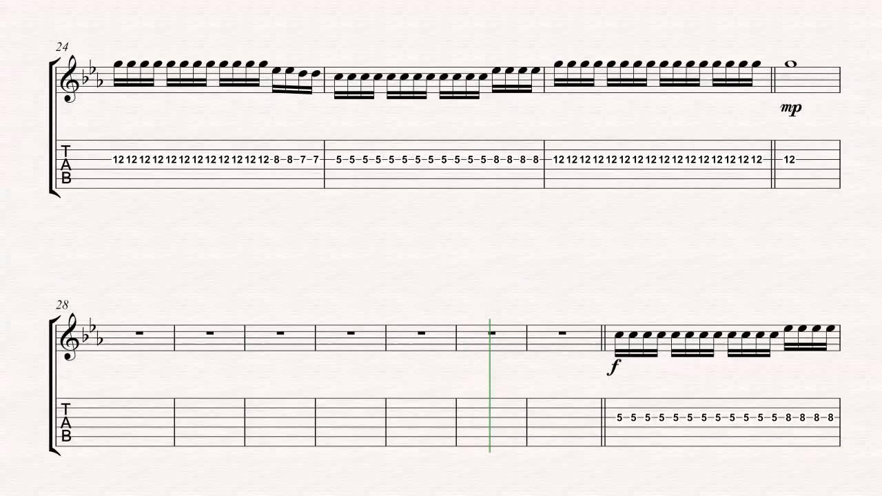 Guitar Final Masquerade Linkin Park Sheet Music Chords