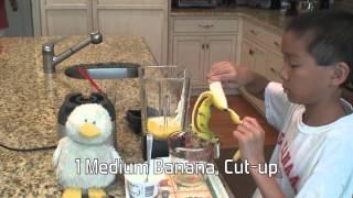 Easy Banana Blueberry Yogurt Smoothie