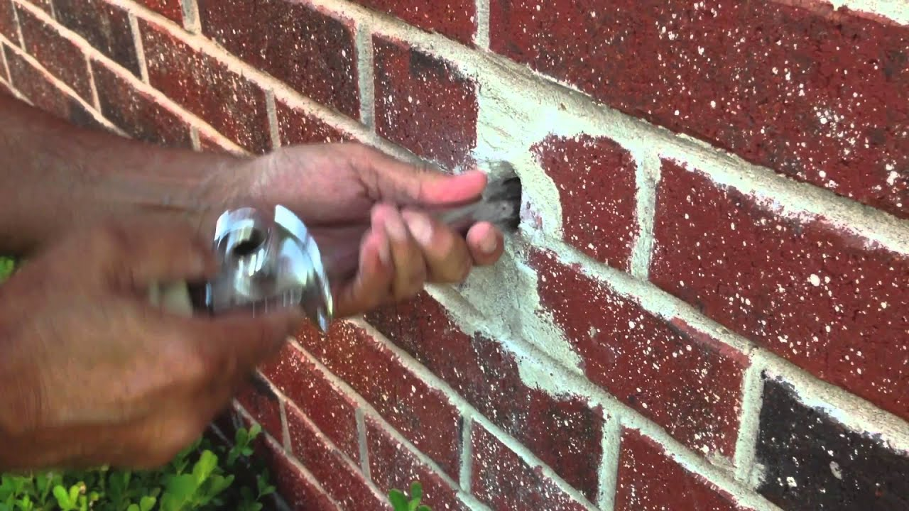How to replace outdoor Faucet - YouTube