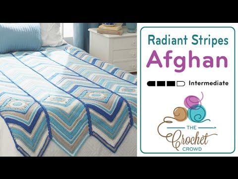How to Crochet A Wave Afghan: Radiant Stripes