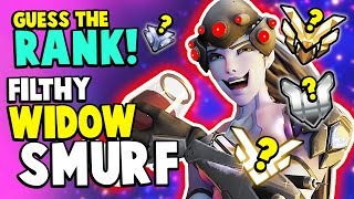 STOP This FILTHY Widow SMURF! | Overwatch Guess the Rank!