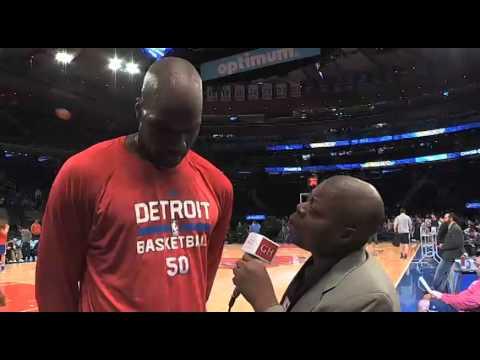 Detroit Pistons Center Joel Anthony Interview.