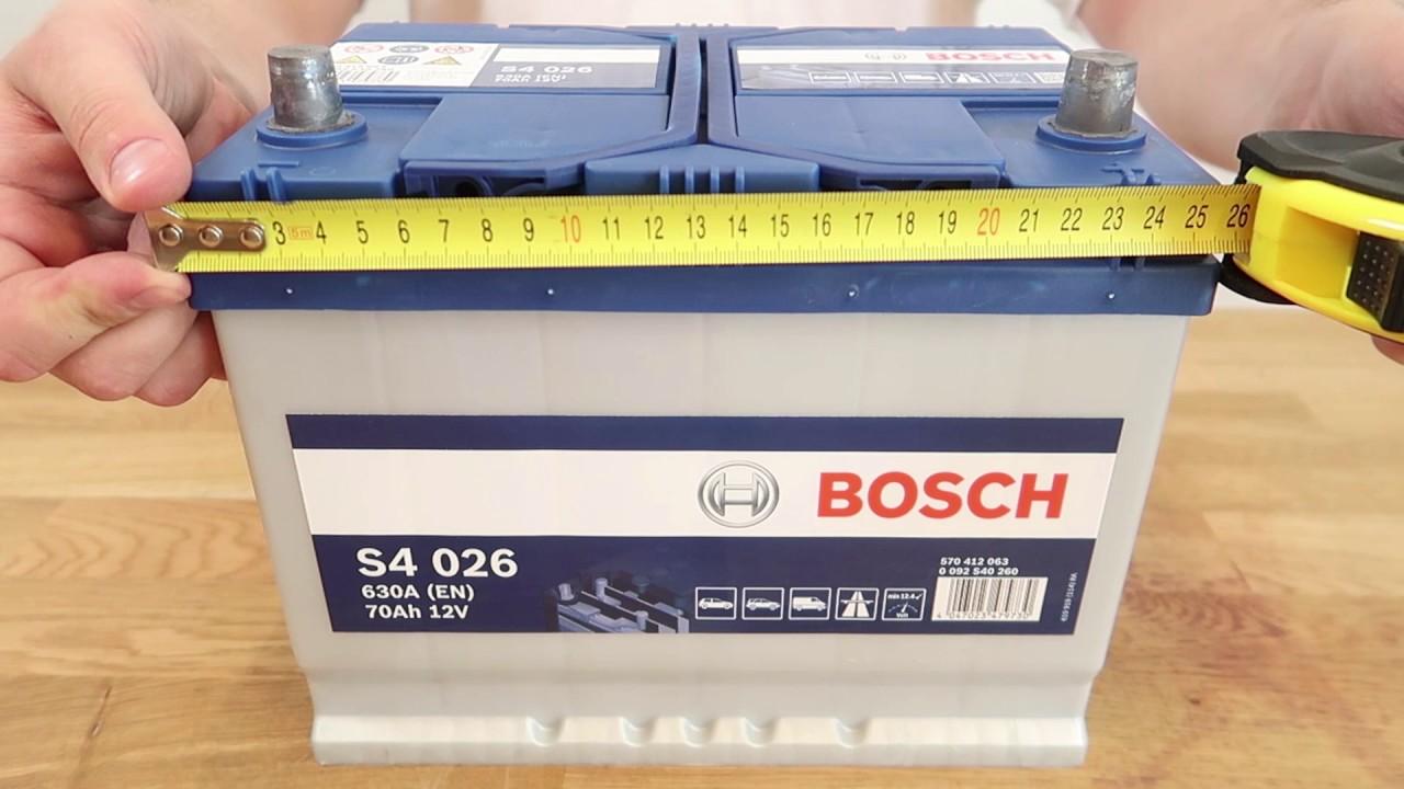 Аккумулятор bosch s4 45 Ah - YouTube