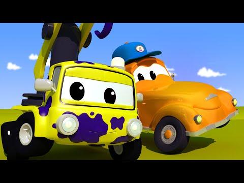 A lavagem de carros de Tom - Pequeno Charlie - Cidade do Carro 🚒 Desenhos animados para crianças