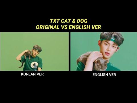 TXT - CAT & DOG KOREAN VS CAT & DOG ENGLISH VERSION