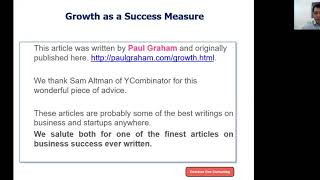 Growth as a Success Measure