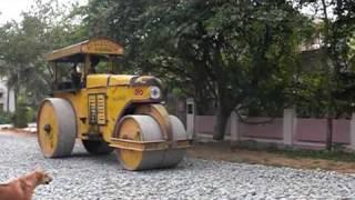 Road Roller in Bangalore - Strassenwalze in Indien