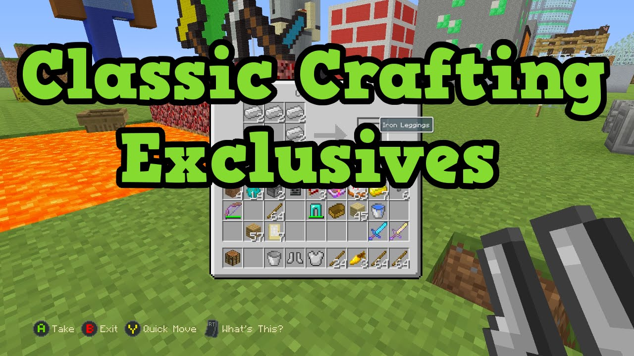 Minecraft Xbox One   PS4 5 Classic Crafting Exclusive Features