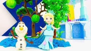 Видео с игрушками - Откуда у Эльзы Холодное сердце яблоня?