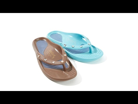 298675b5cb996 Tony Little Cheeks 2pack Square Jeweled Health Sandal - YouTube