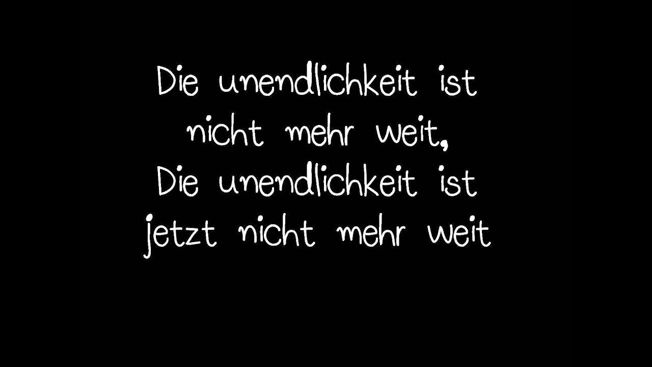 Unendlichkeit Lyrics