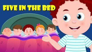 Five In The Bed | Schoolies Videos | Nursery Rhymes For Babies - Kids Channel