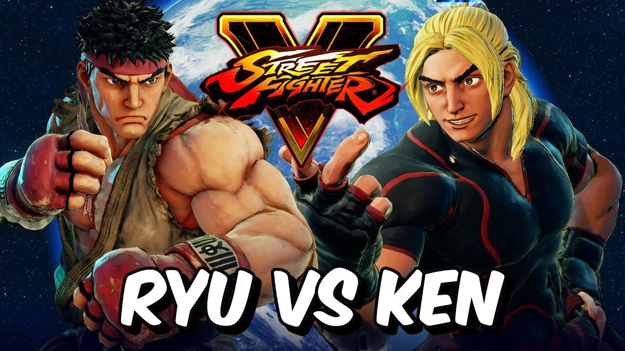 Street Fighter 5 Ryu Vs Ken 1080p Hd 60fps Youtube
