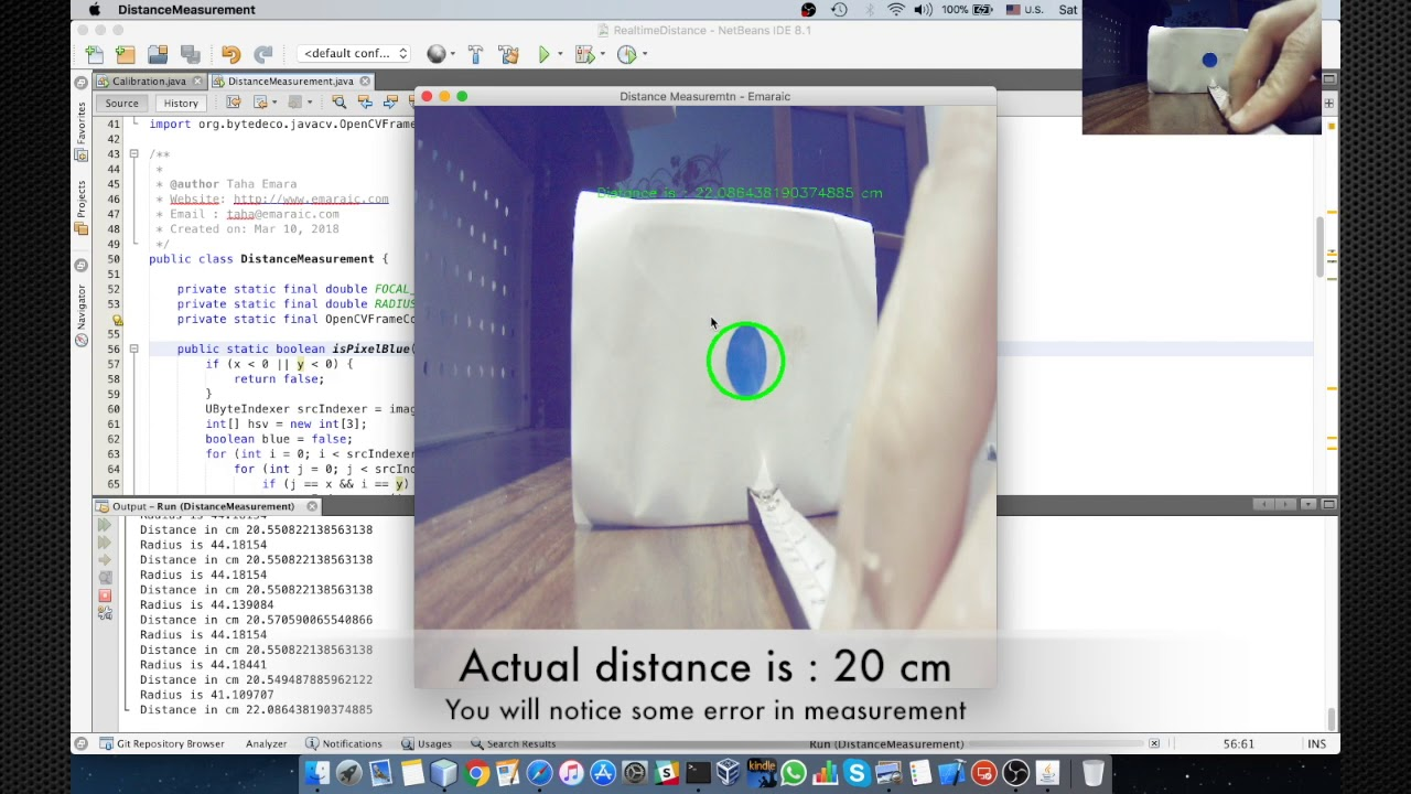 Emaraic - Real-time Distance Measurement Using Single Image