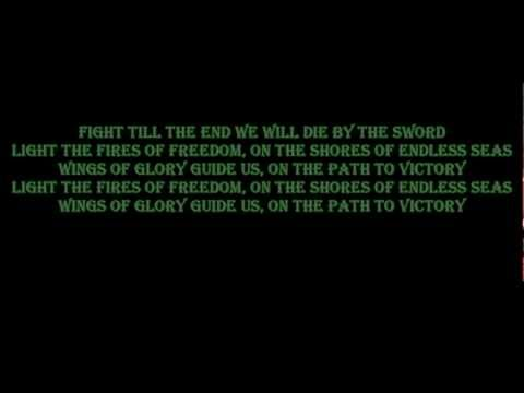 DragonForce - Die by the sword | Lyrics on screen | HD