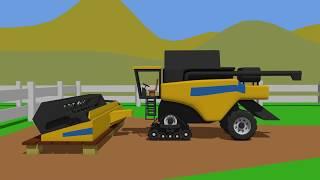 BIG Combine Harvester Rubber Track | Fairy Tractor | Żółty Kombajn Gąsienicowy | Bajka Nowość