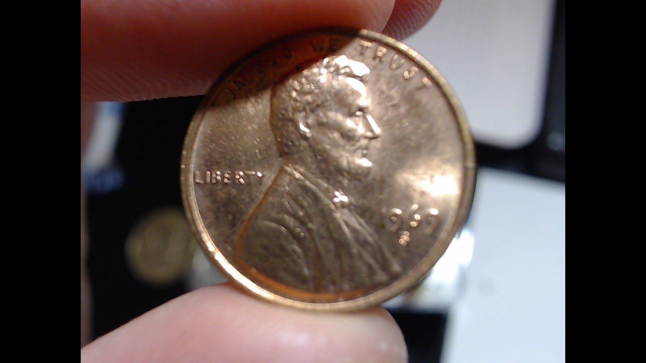 1969 D Penny Error Missing Initials