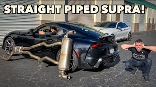 I STRAIGHT PIPED MY 2020 TOYOTA SUPRA! *Way Too Loud!*