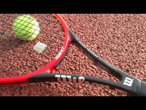 The Roger Federer Pro Staff 97 tennis racket review - too heavy?  No good at the net?
