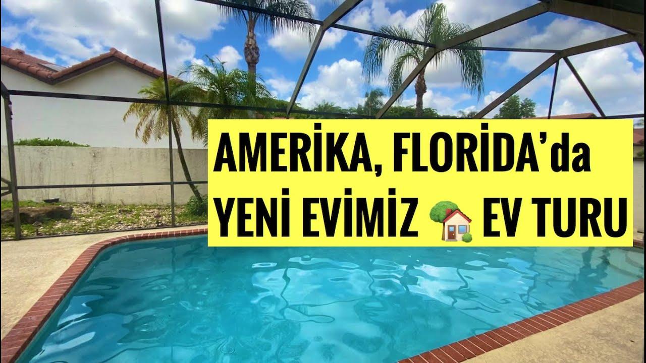 ✔️FLORIDA  Ev Turu!   |  AMERİKA'DAKİ YENİ EVİMİZ 🏡  | SONUNDA TAŞINDIK!     |  Amerika'da Yaşam!