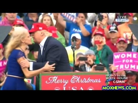 """Donald Trump Pulls Kellyanne Conway Up On Stage At """"THANK YOU"""" Rally In Mobile Alabama"""