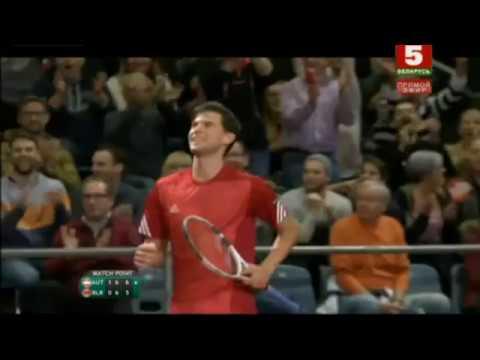 Davis Cup. Dominic Thiem Incredible Match Point