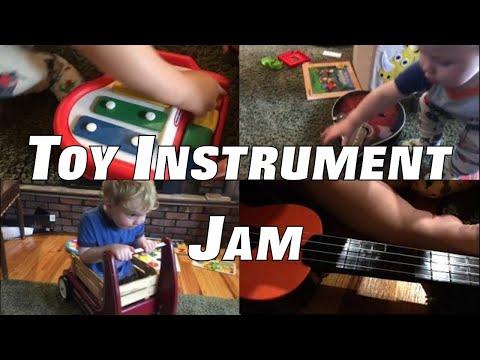 Toy Instrument Jam with Kids – Found Sounds Preschool Music