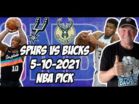 San Antonio Spurs vs Milwaukee Bucks 5/10/21 Free NBA Pick and Prediction NBA Betting Tips