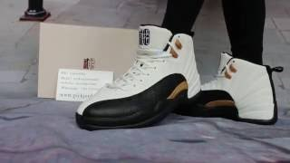 chinese new year air jordan 12 cny on feet show