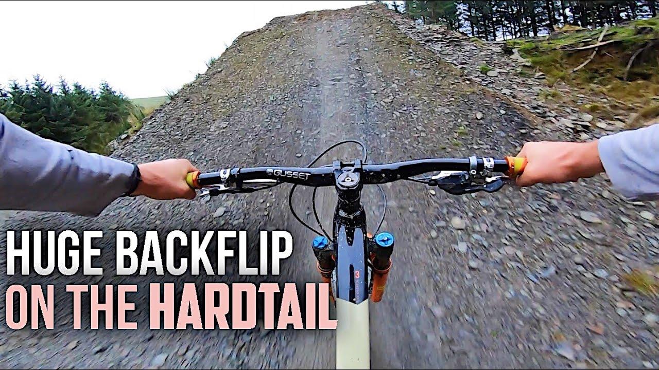b514cd6ff86 Downhill MTB Riding On The Hardtail! *Huge Backflip On This Dirt Kicker*