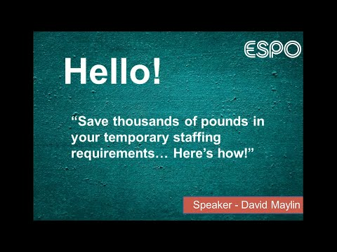 How A Managed Service Provider For Temporary Staff Can Help Your Organisation - Webinar Recording
