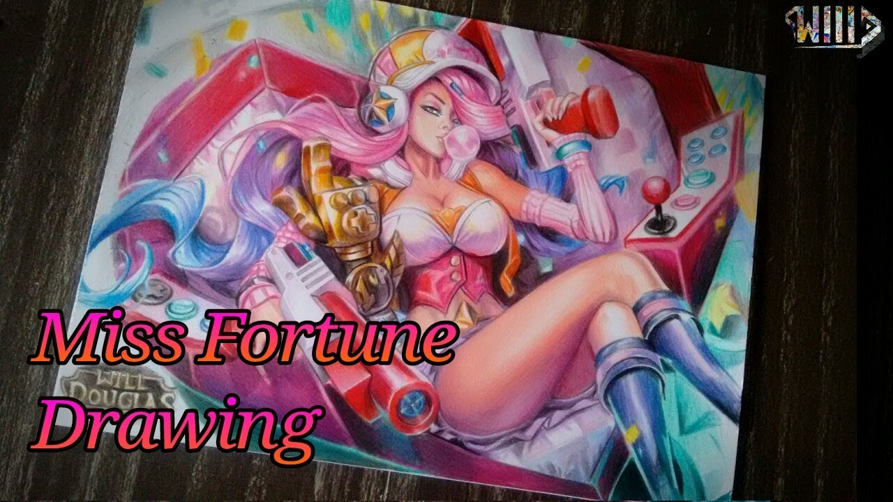 Drawing - miss fortune arcade (League of legends)