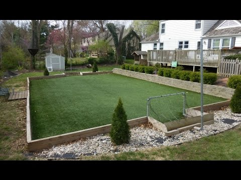 How to Make a Backyard Artificial Turf Field - YouTube