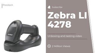 Barcode Scanner Zebra (Motorola ) LI4278 Review In HIndi