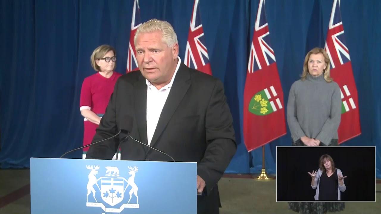 Ontario Premier Doug Ford Provides COVID-19 Update | September 19