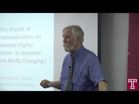 Public Lecture Video (6.1.2016) The Impact of Internationalization on Japanese Higher Education