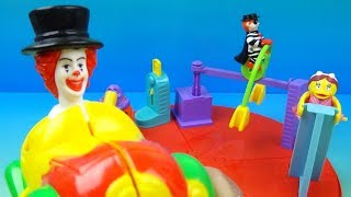 2002 McDonalds McCircus Play Set of 4 Happy Meal Kids Toys Video Review