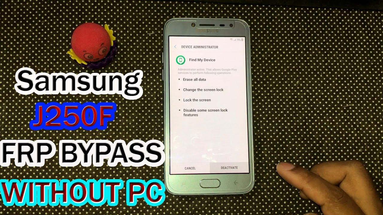 Samsung J2 Pro (J250F) FRP/GOOGLE ACCOUNT BYPASS WITHOUT PC 2021