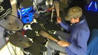 soulja boy crank dat death metal quad bass pedal drum cover drumming
