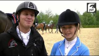 Winnaars van de Liberty Equine Products Prijs klasse L Doron Kuipers en Aileen Menneken