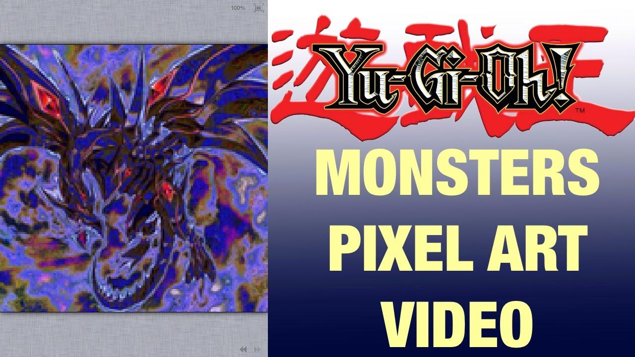 red eyes darkness dragon yugioh monsters pixel art video youtube