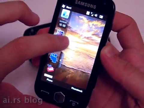 Samsung i8000 Omnia II with AMOLED screen, video preview by ai.rs blog