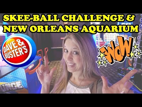 Dave and Busters Arcade SkeeBall Challenge! Star Trek Coin Pusher FUN! New Orleans Aquarium! TeamCC