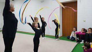 Открытый урок по художественной гимнастике для детей.
