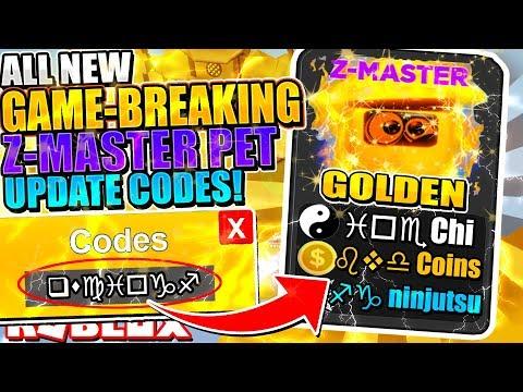 NEW FREE Z-MASTER PET CODES ARE *BREAKING* NINJA LEGENDS UPDATE! *INSANE MONEY* (Roblox Codes)